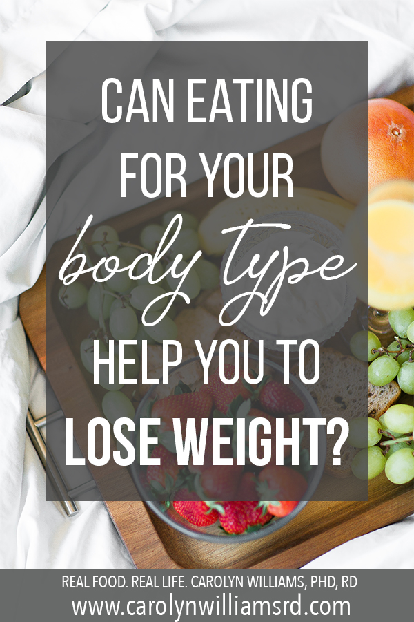 Can Eating For Your Body Type Help You To Lose Weight? // CarolynWilliamsRD.com