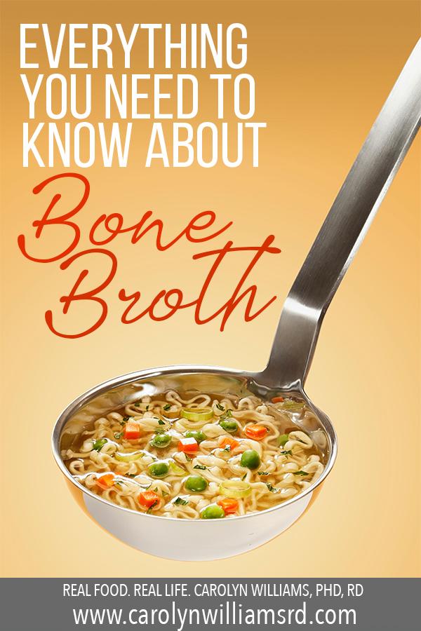 Bone Broth // CarolynWilliamsRD.com