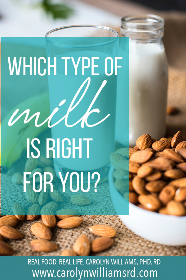 Which Type of Milk Is Right For You? CarolynWilliamsRD.com
