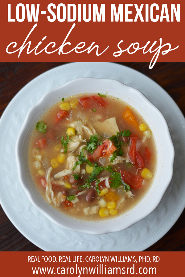 Mexican Chicken Soup / CarolynWilliamsRD.com