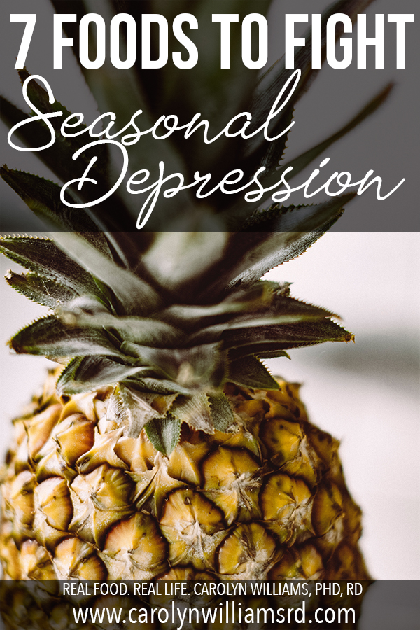 7 Foods to Fight Seasonal Depression // CarolynWilliamsRD.com
