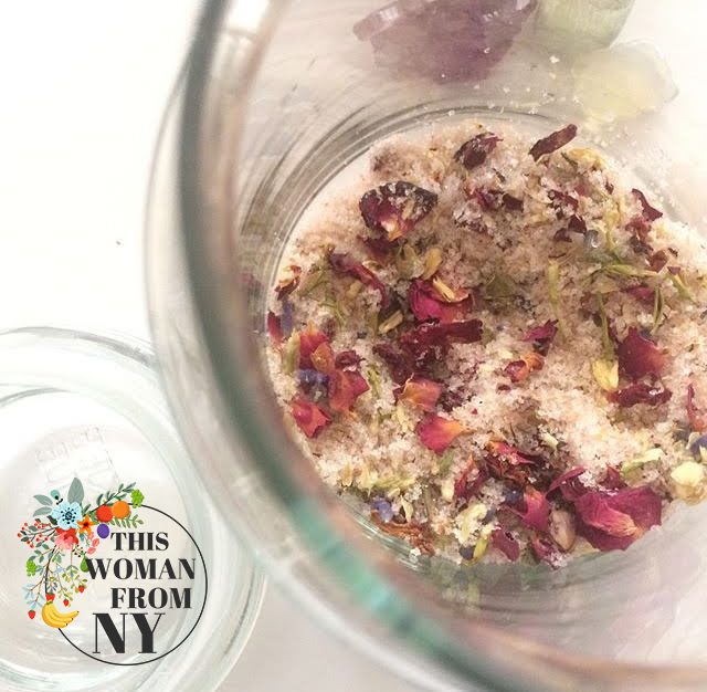 DIY Dead Sea Salt Body Scrub Inspired By Ancient Royal Beauty, Kept In Jar | THISWOMANFROMNY
