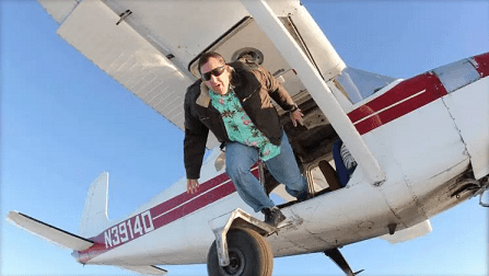 Extreme Skydiver Luke Aikins