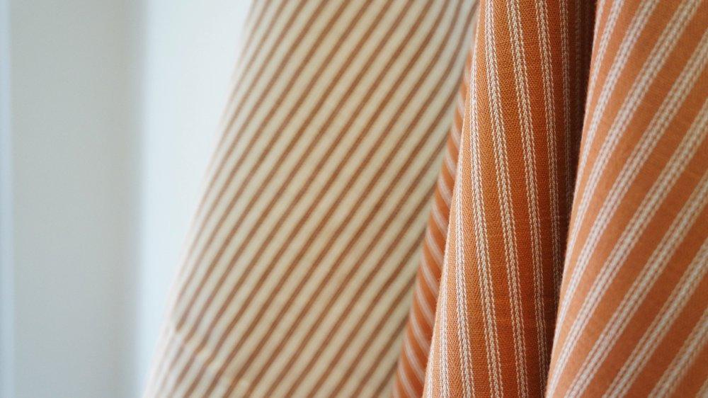 malabar fabric pumpkin color stripe.JPG