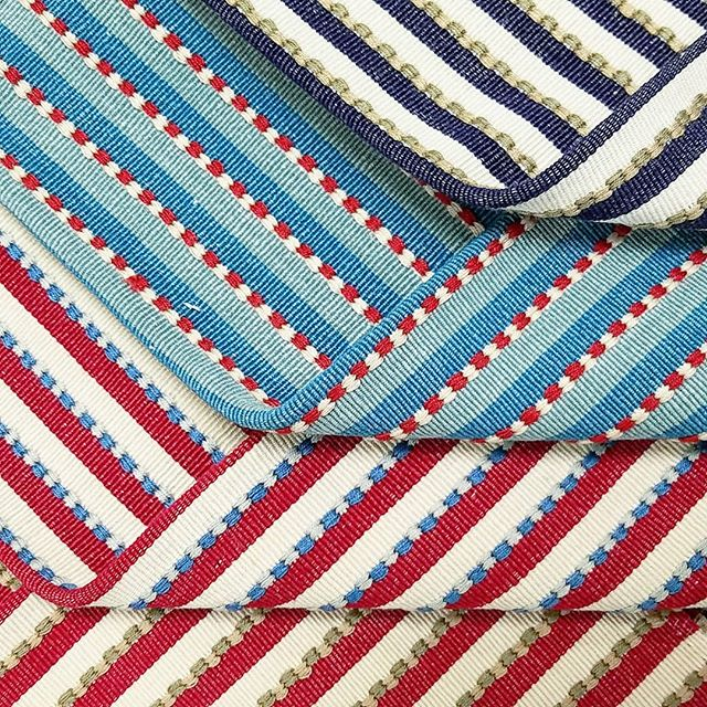 TANPOCO. When it comes to color,  we're not messing around. . Follow our stories for behind the scenes in India.  Tomorrow we're off to the weaving facility to eye some fabrics.  Be patient, our wifi is slow in these parts. . . . #handloom #cotton #fabric #textiles #obsessed #colorobsessed #stripe #upholstery #interiordesign