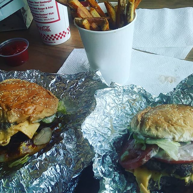 Five guys with my man! #lunchdate