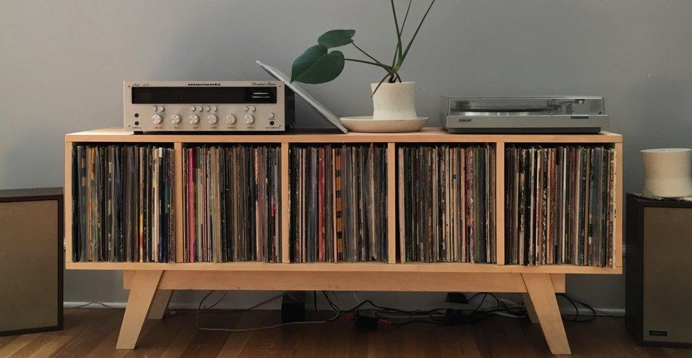 Mid century modern record cabinet.