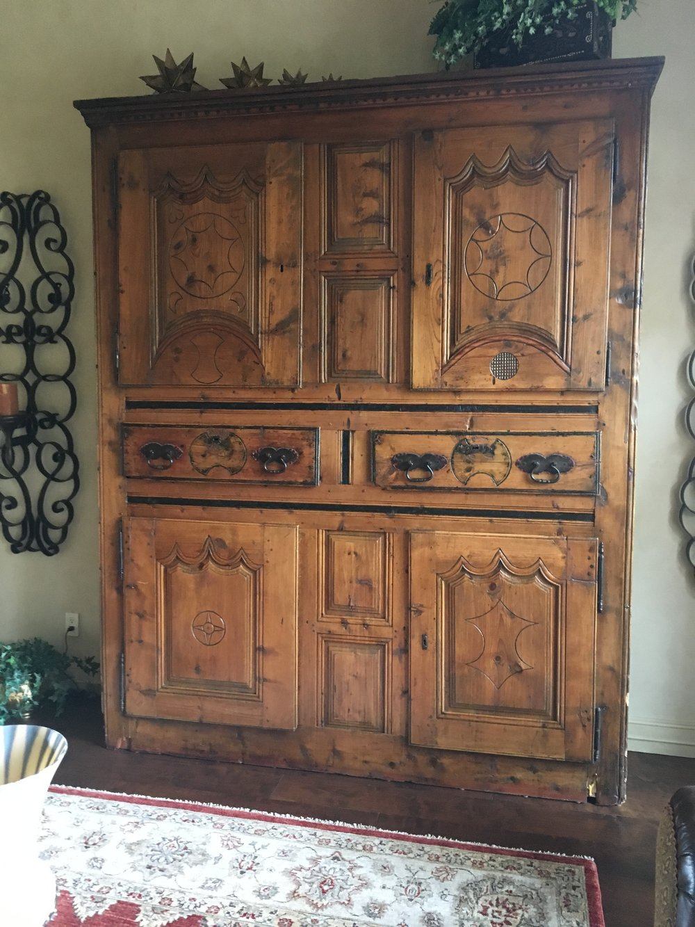 Fiesta Furniture antique spanish armoire. 18th cent armoire.JPG - Fiesta Furniture Antique Spanish Armoire — High Line Furniture