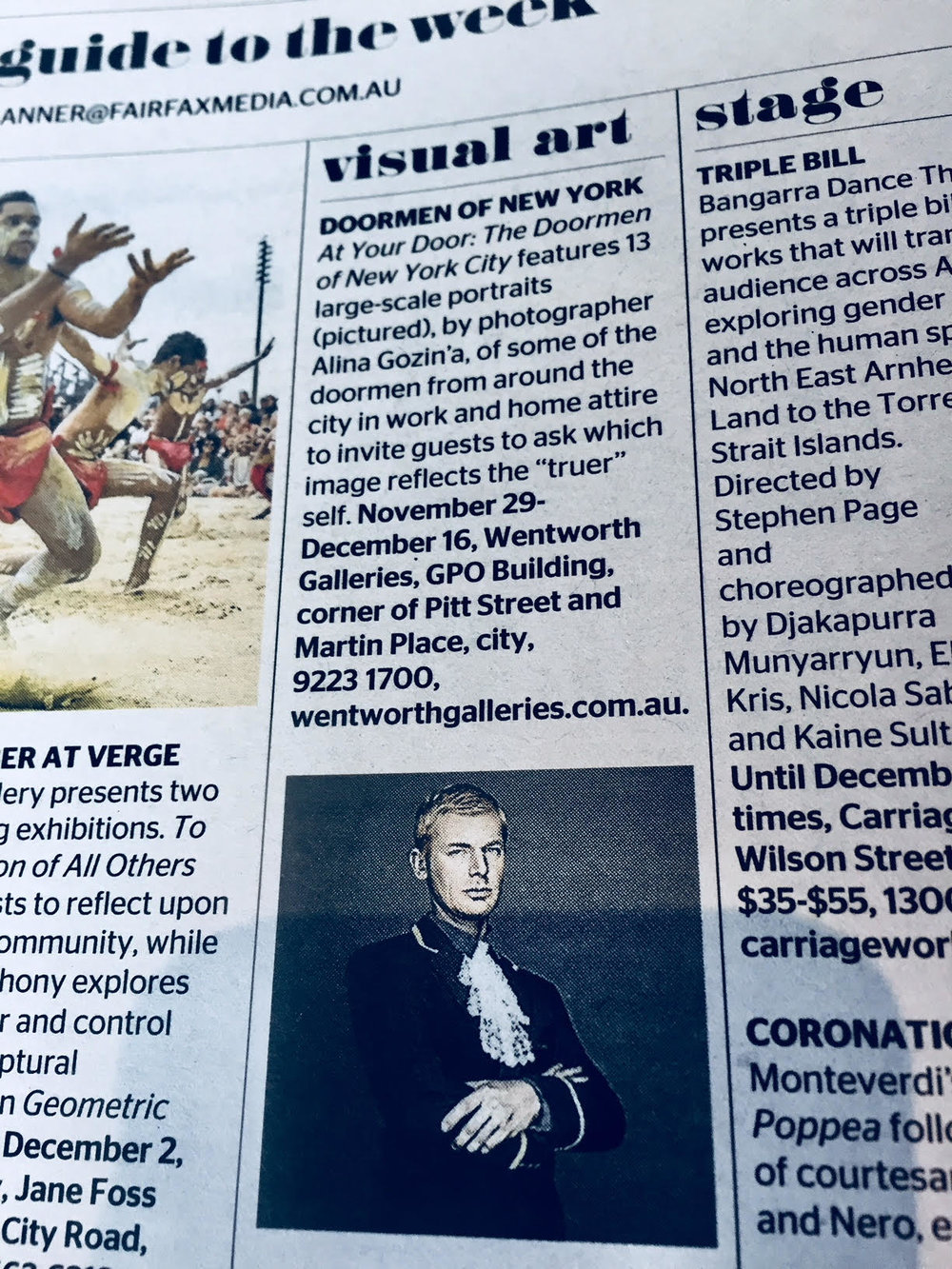 The SMH Spectrum Newspaper  Listing Story Printed Nationally on the 25th November 2017