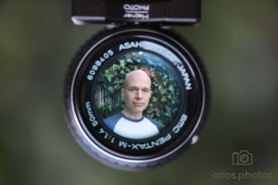 Not quite possible to have the front of the lens and myself in focus at the same time.