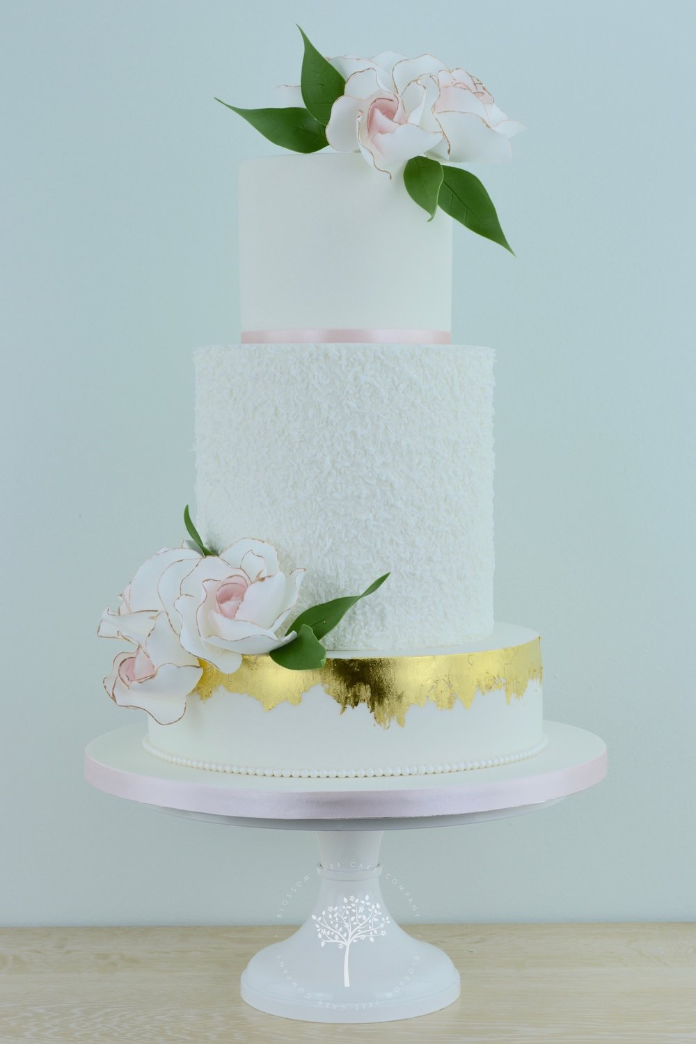 Blush Roses wedding cake by Blossom Tree Cake Company Harrogate North Yorkshire.jpg