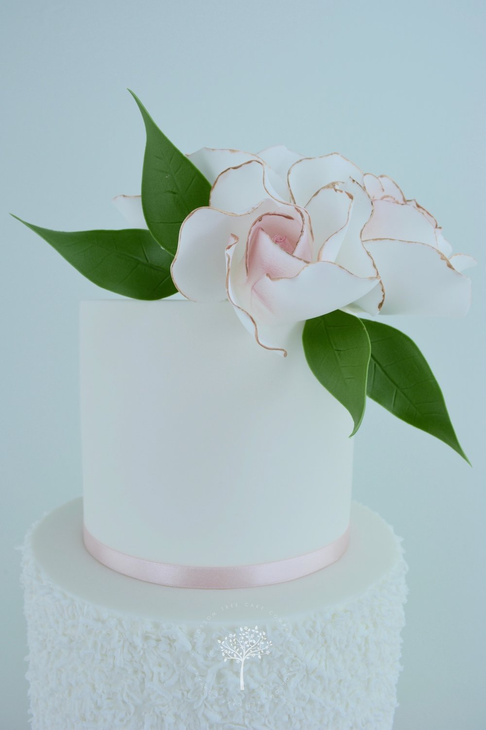 Blush Roses wedding cake by Blossom Tree Cake Company Harrogate North Yorkshire - top sugar roses.jpg