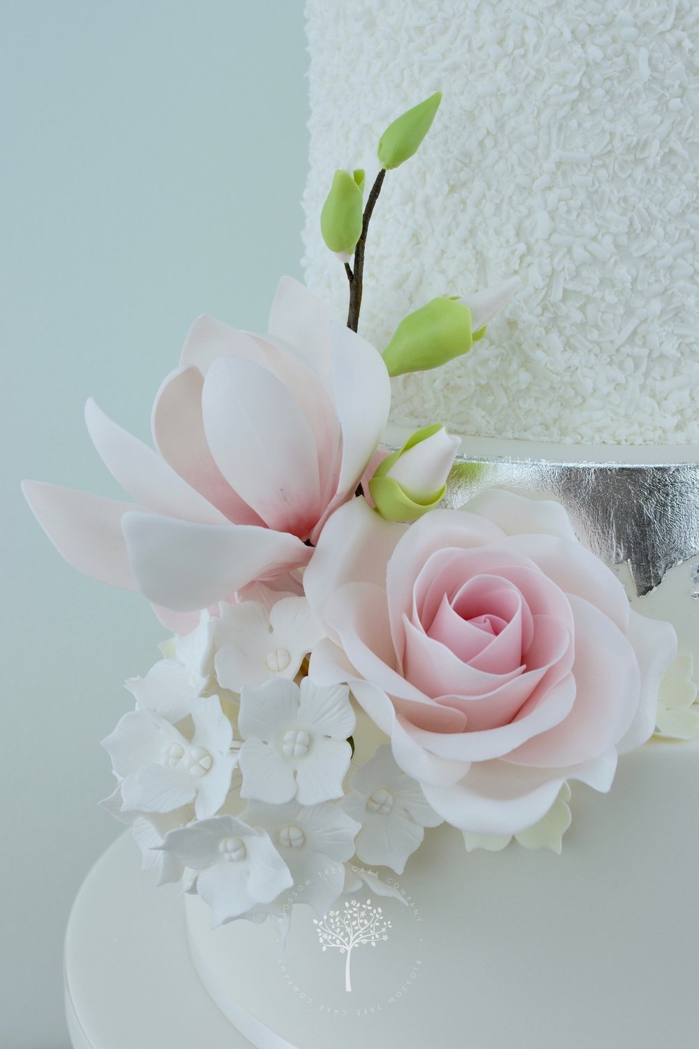 Magnolia Roses and Peony wedding cake by Blossom Tree Cake Company Harrogate North Yorkshire - sugar flowers.jpg