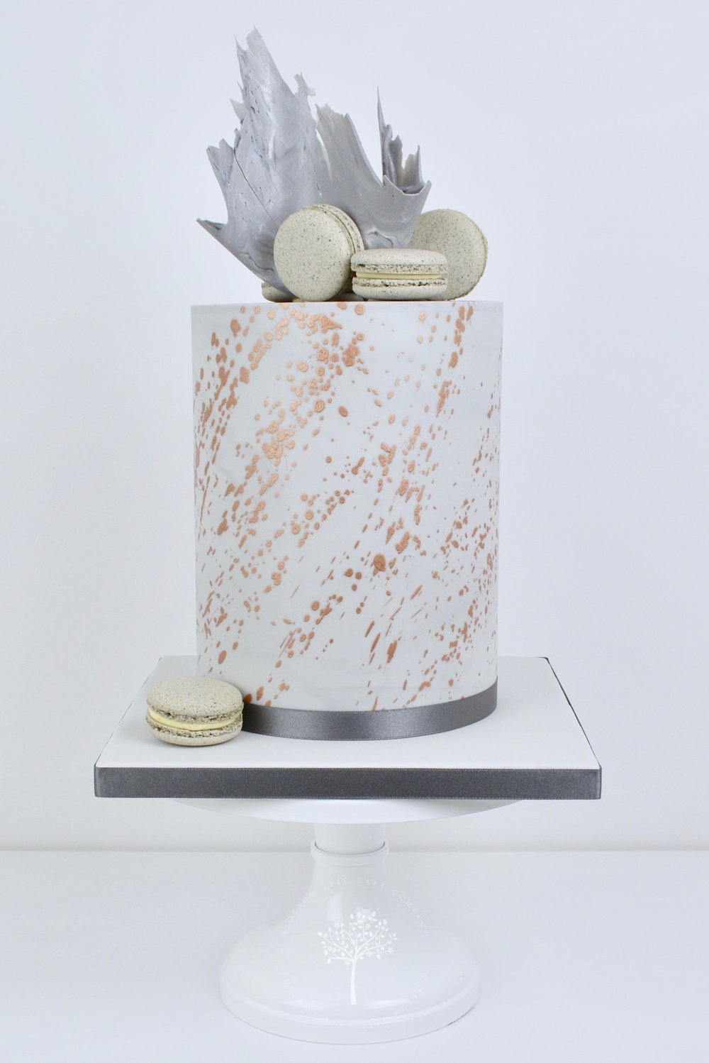 Copper Splash celebration cake by Blossom Tree Cake Company Harrogate North Yorkshire.jpg