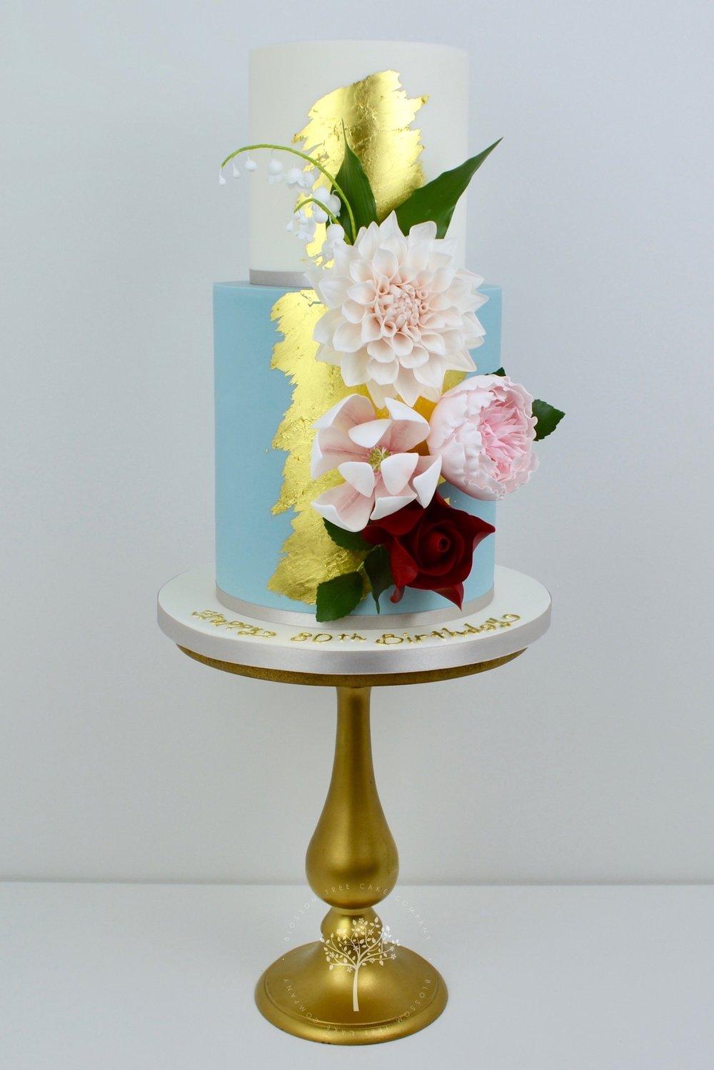 Cafe Au Lait Dahlia cake by Blossom Tree Cake Company Harrogate North Yorkshire.jpg