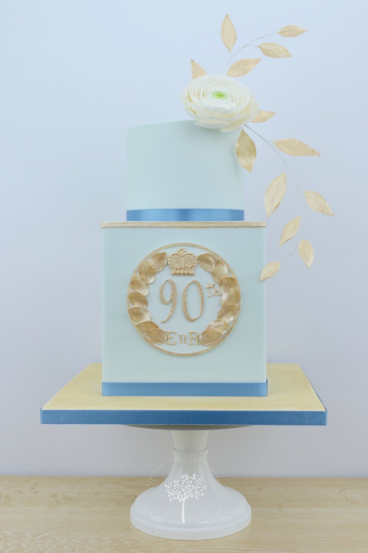 Queen's 90th Birthday Goldsborough Hall Garden Party cake by Blossom Tree Cake Company Harrogate North Yorkshire.jpg