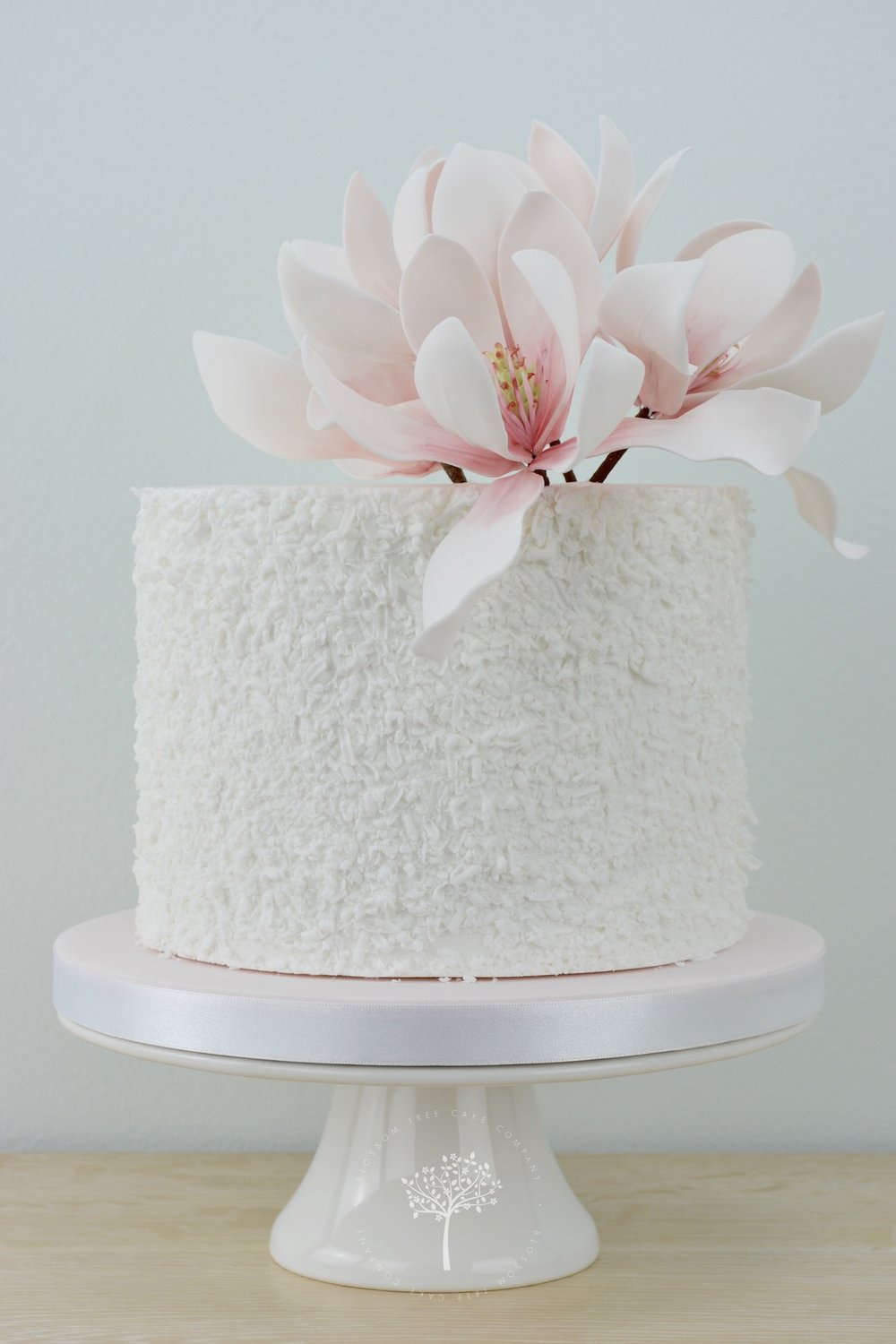 Magnolia celebration cake by Blossom Tree Cake Co Harrogate North Yorkshire.jpg