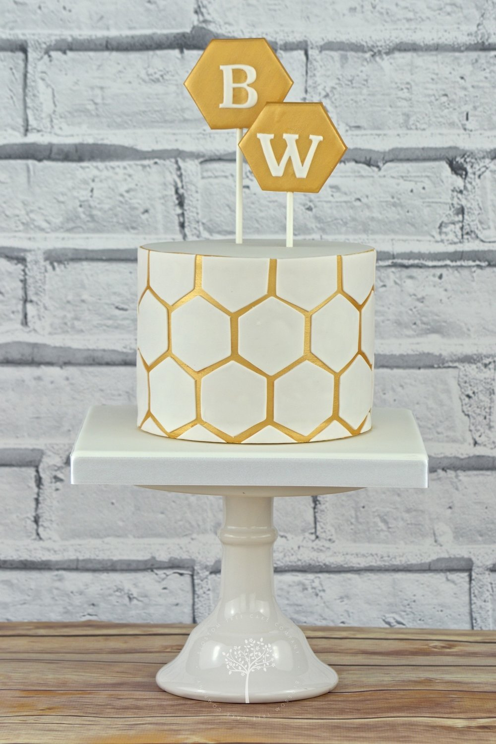Honeycomb celebration cake by Blossom Tree Cake Company Harrogate North Yorkshire.jpg