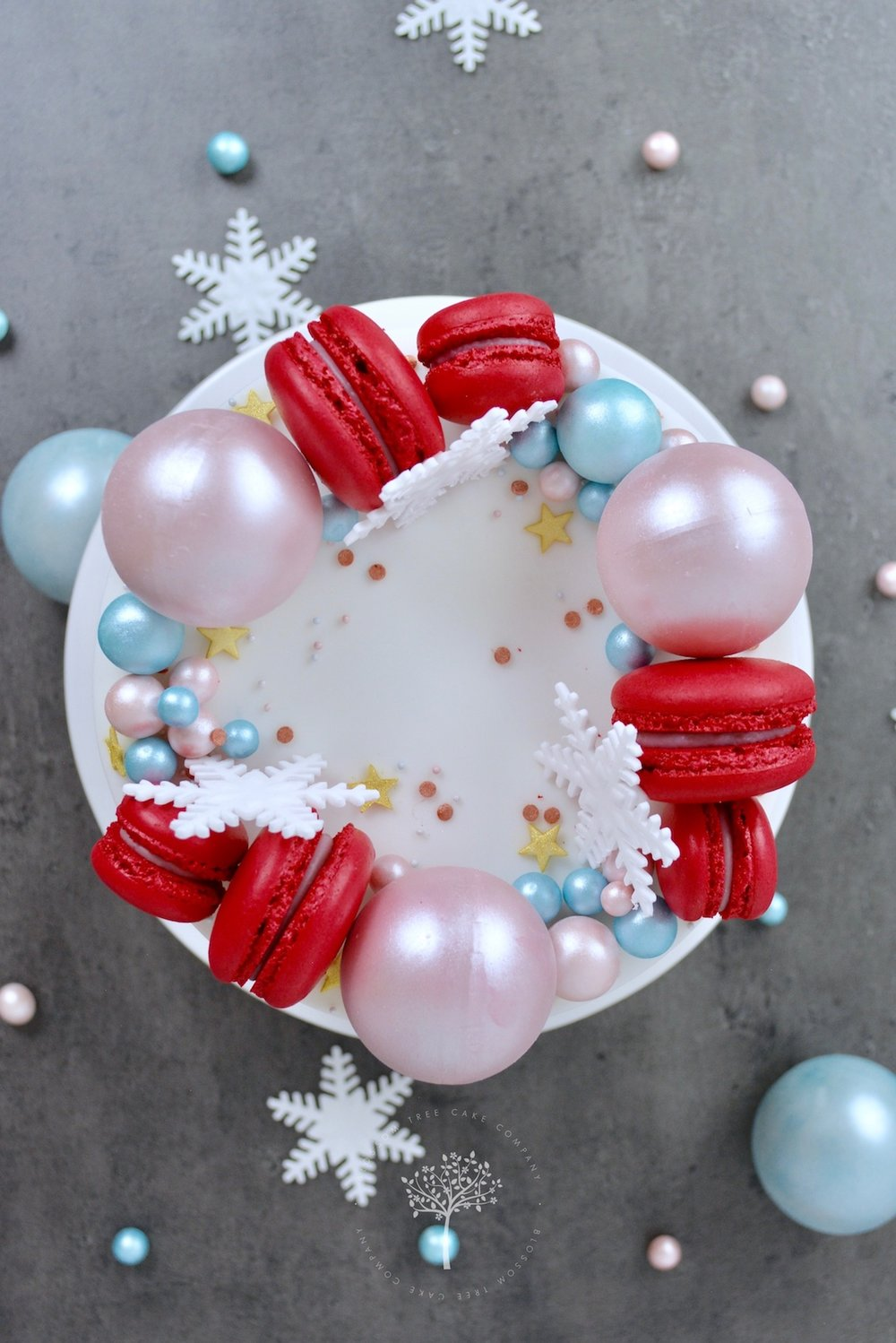 2017 Christmas Cake by Blossom Tree Cake Company Harrogate North Yorkshire - aerial.jpg
