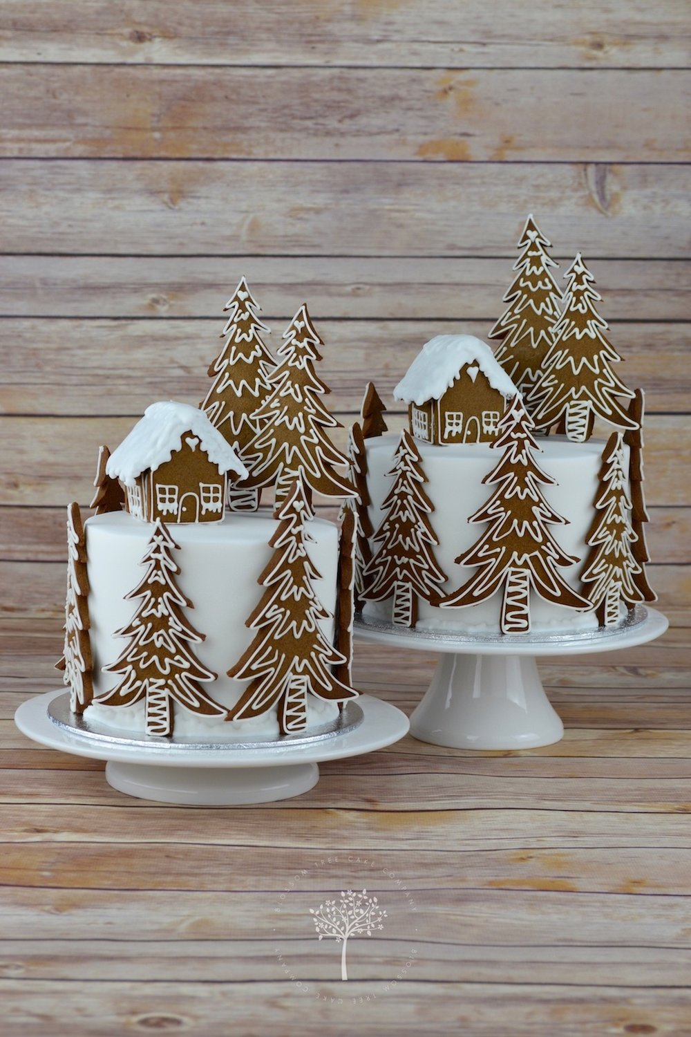 2015 Gingerbread Christmas Cake by Blossom Tree Cake Company Harrogate North Yorkshire.jpg