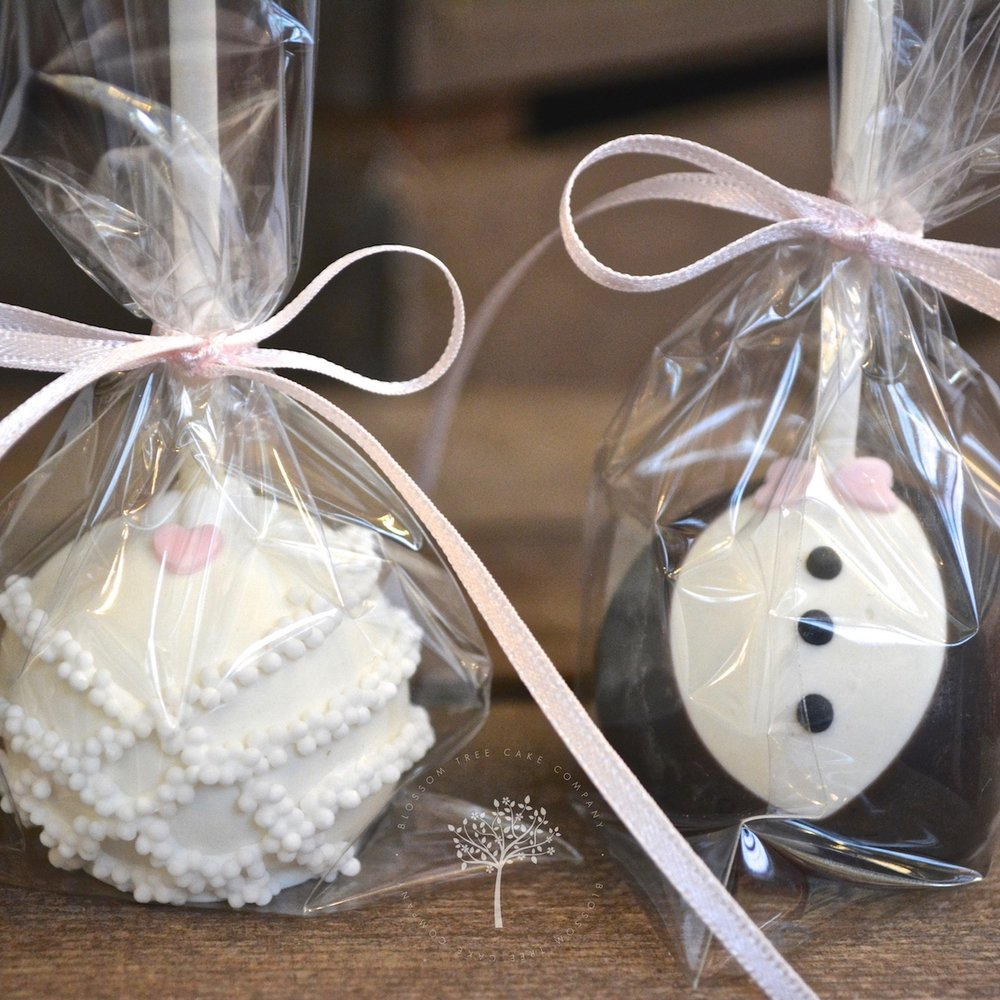 Bride and Groom Cake Pops by Blossom Tree Cake Company Harrogate North Yorkshire - square.jpg