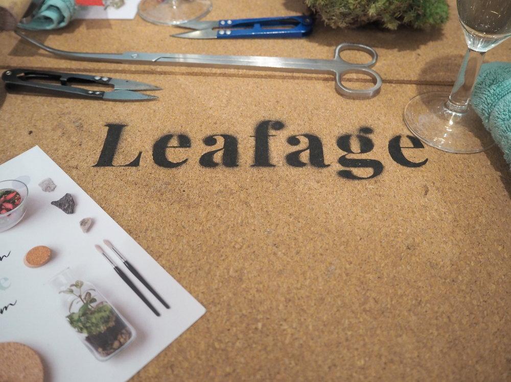 Leafage Terrarium Workshop - Leafage Header