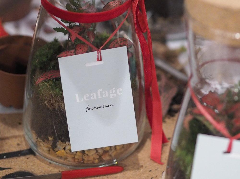 Leafage Terrarium Workshop - Label