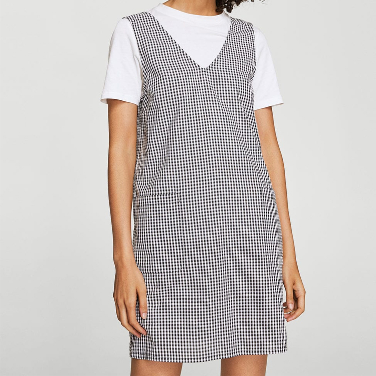 Mango Gingham Dress