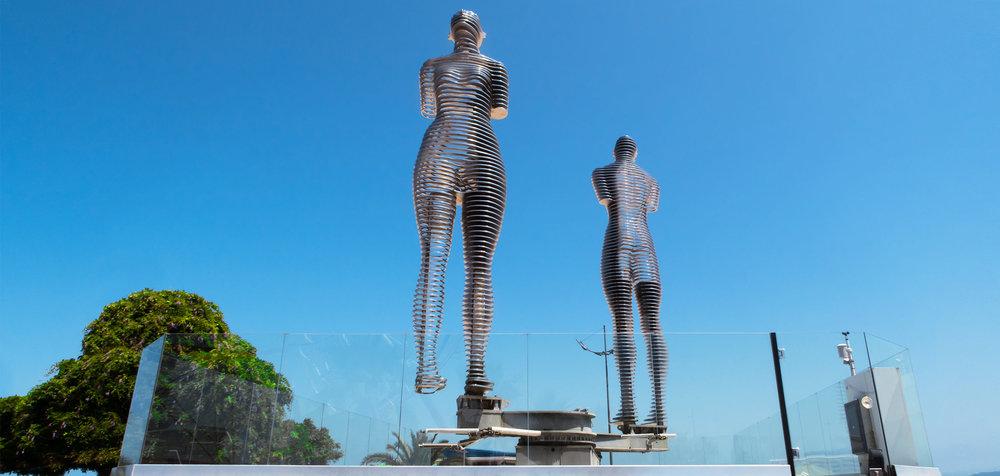 Али Нино Панорама Скульптура Отдых Книга Бульвар Батуми Грузия NAMERANI.jpg