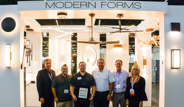 "WAC Lighting / Modern Forms won the ""Best of the Best Award"" in the 2018 Pegasus Exhibitor Awards."