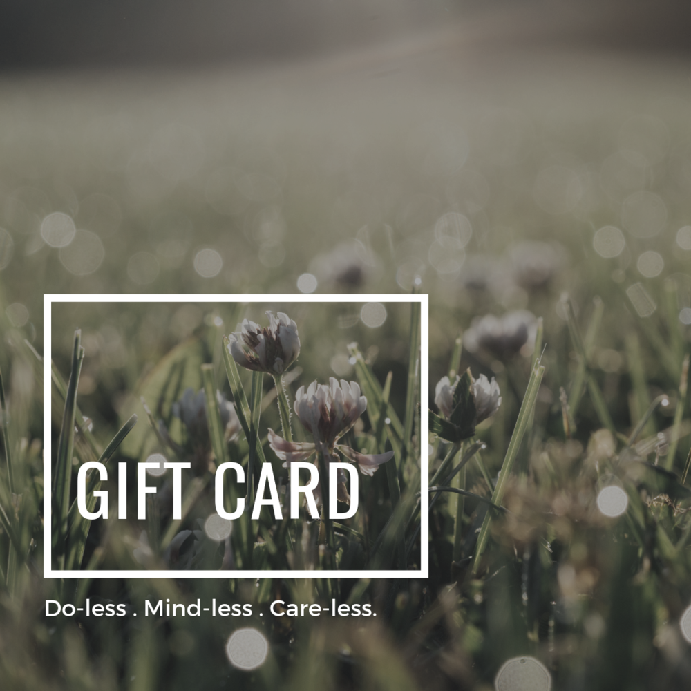 Gift card for forest bathing, forest therapy and rest classes and workshops