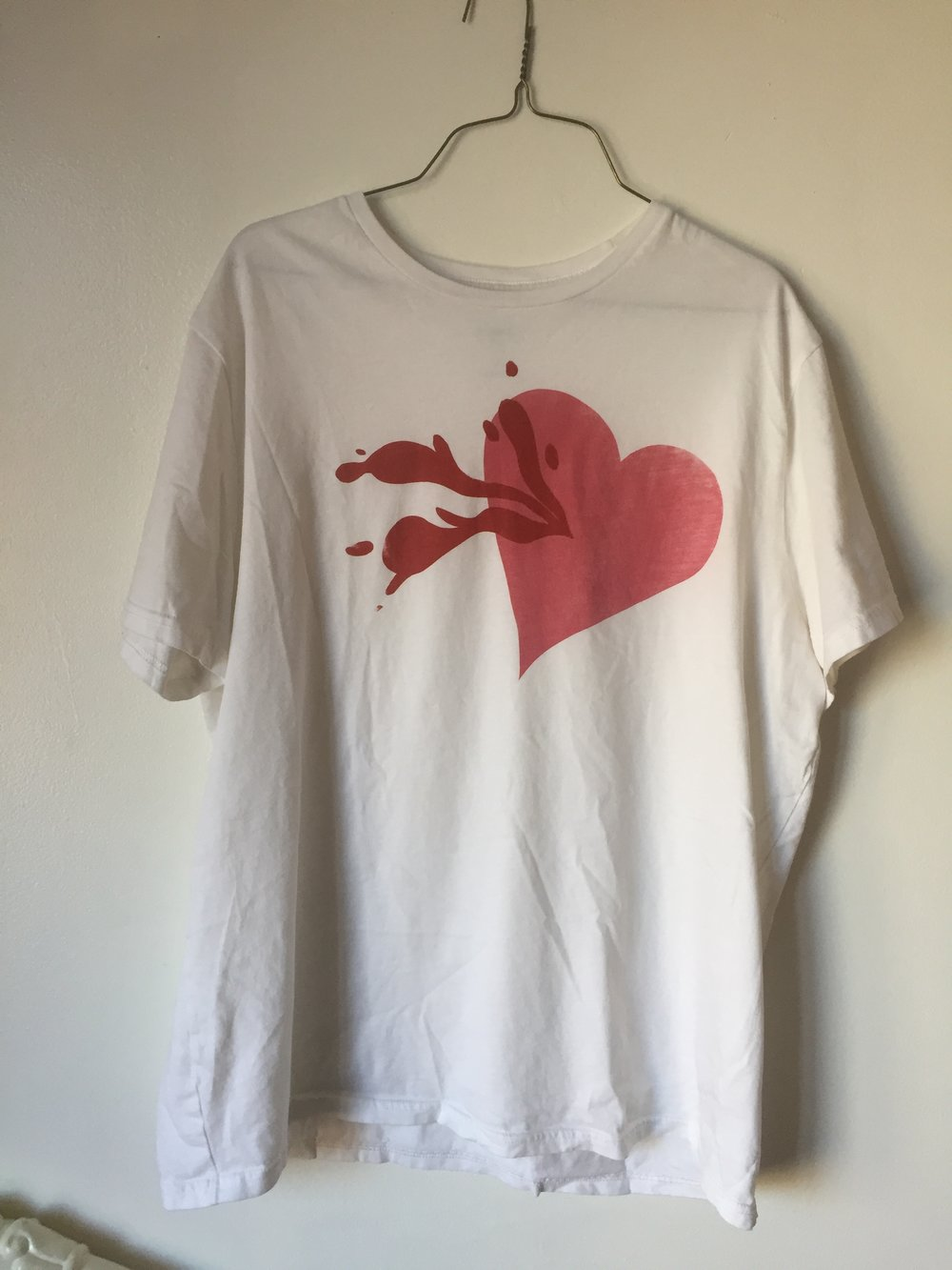 Scene Heart, 2018, two layer screenprint on t shirt