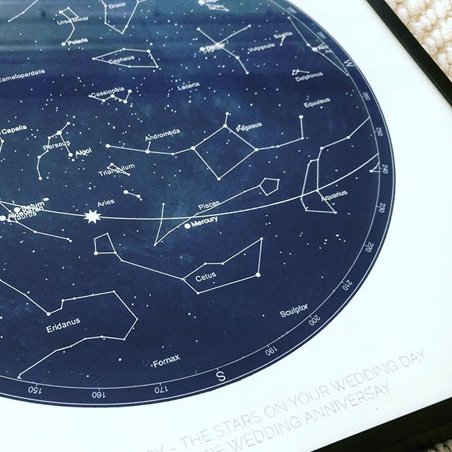 Another beautiful #starmap to celebrate a wedding anniversary I love to make these wonderful objects, it gives me such a fuzzy feeling, thank you for sharing your #starstory with me xx  #starmaps #starchart #personalised #artprints #starmap #starstory #giftcards #starmap #starchart #artprints #starmaps #starchart #anniversarygift #mystarstory #bristol #bristolartist #bristolwomen #weddingday #beautifulmemory