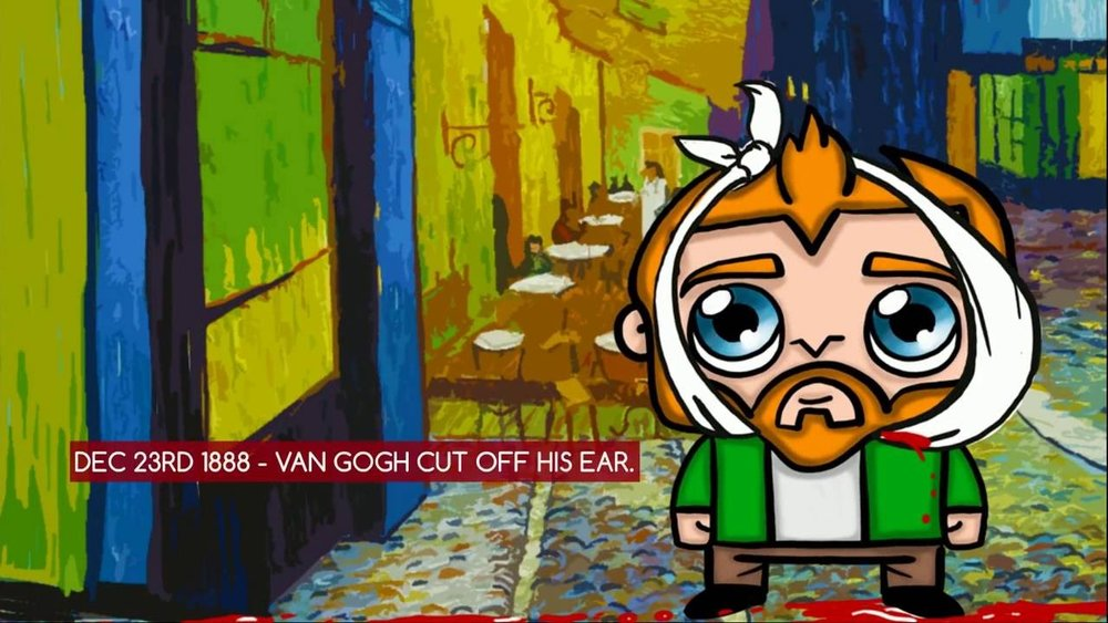 Artunity App Van Gough Cut Off His Ear