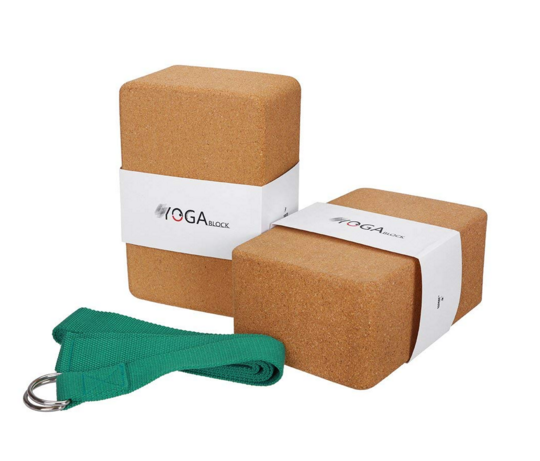 Cork Yoga Blocks & Strap - I used these everyday…