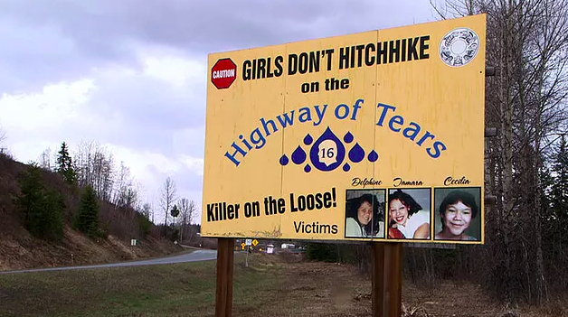 Highway of Tears girls don't hitchhike poster