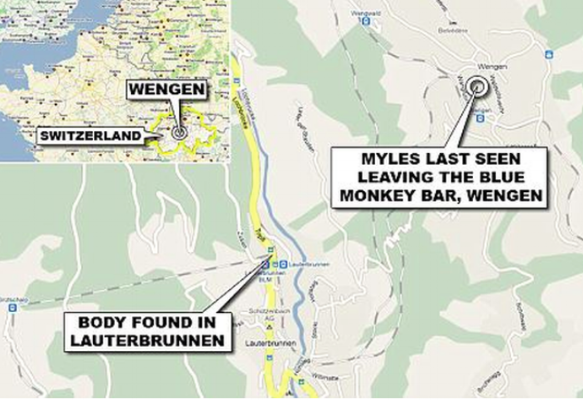 Myles Robinson location of disappearance