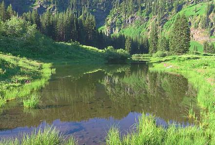 Spirit Lake, marble mountains wilderness
