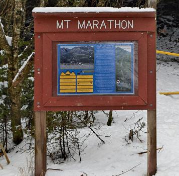 Mount Marathon sign