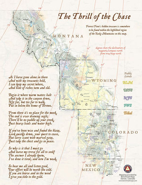 The Thrill of the chase map and poem