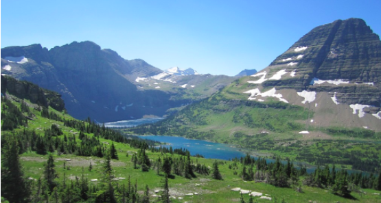 Hidden lake by logan pass
