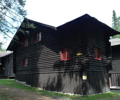 Main lodge at Santanoni