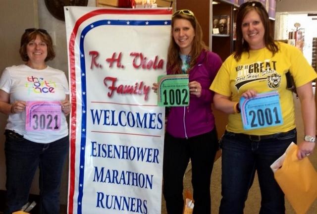 My mom, sister and I at packet pick up! Mom ran the 5k, my sister ran the 10k (her first) and I ran the half marathon (my first).