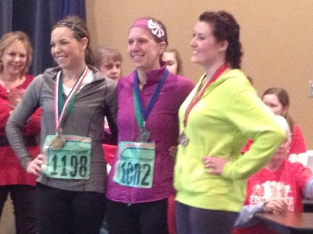 Receiving my medal for 2nd in my age group.