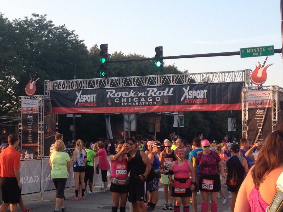The race start line. Let's get this started!