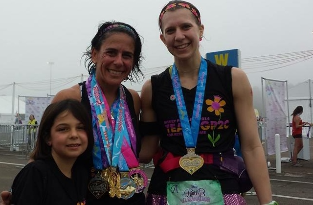 Allison (Rett mom), Abby and me after the race. Allison would soon become a huge role in my running races with Rett Syndrome as a cause.