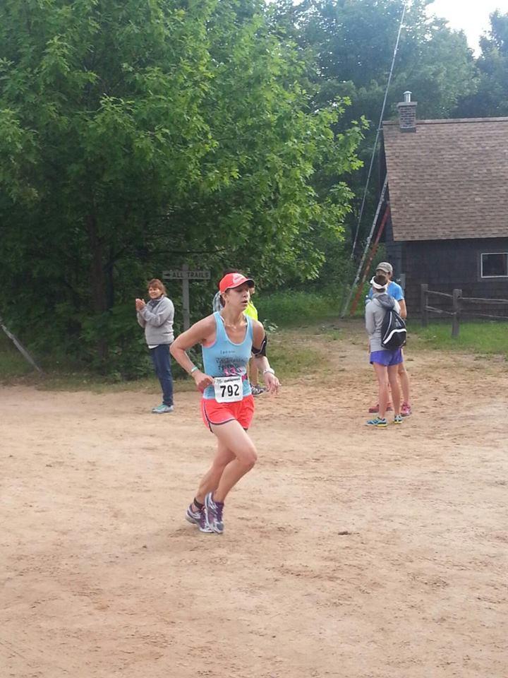 Coming around the last corner to the finish.