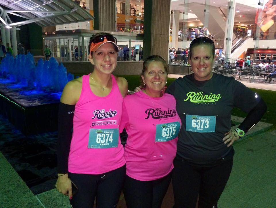 Zero-dark thirty on race morning with my mom and sister!