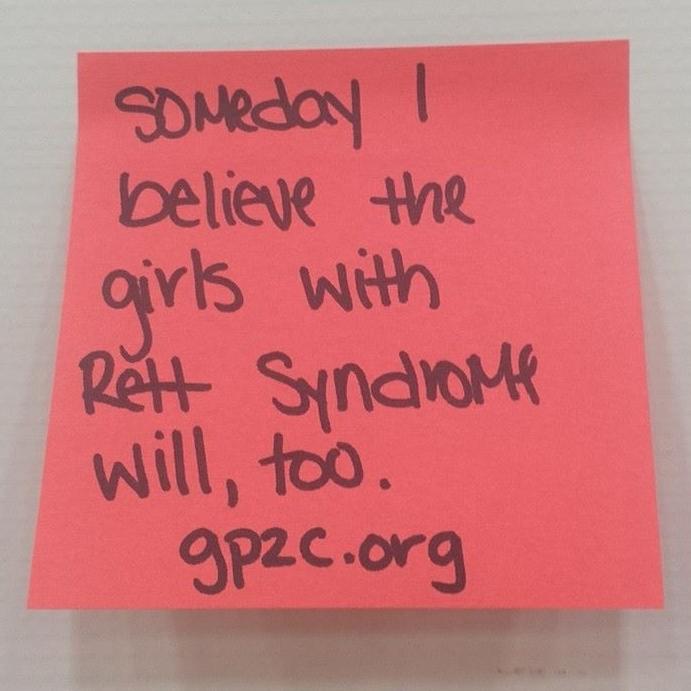 Always spreading awareness of Rett Syndrome.