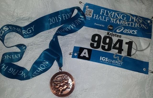 Race medal and bib.